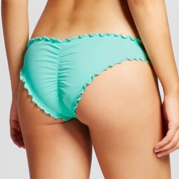 f1f171feb40 Cheeky Scrunch Bikini Bottom Seafoam Green